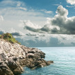 Rocky coast Adriatic Sea in Croatia — Stock Photo