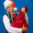 Stock Photo: Business man at Christmas and New Year holidays