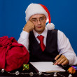Business man at Christmas and New Year holidays — Stock Photo