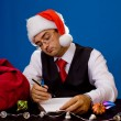 Stock Photo: Business mat Christmas and New Year holidays