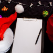 Stock Photo: Unwritted letter to Santa. Xmas business theme.
