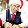 Stock Photo: Business mas Santat Christmas and New Year holidays