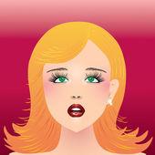 The girl's face. — Stock Vector