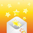 Envelope and the stars. — Stock Vector