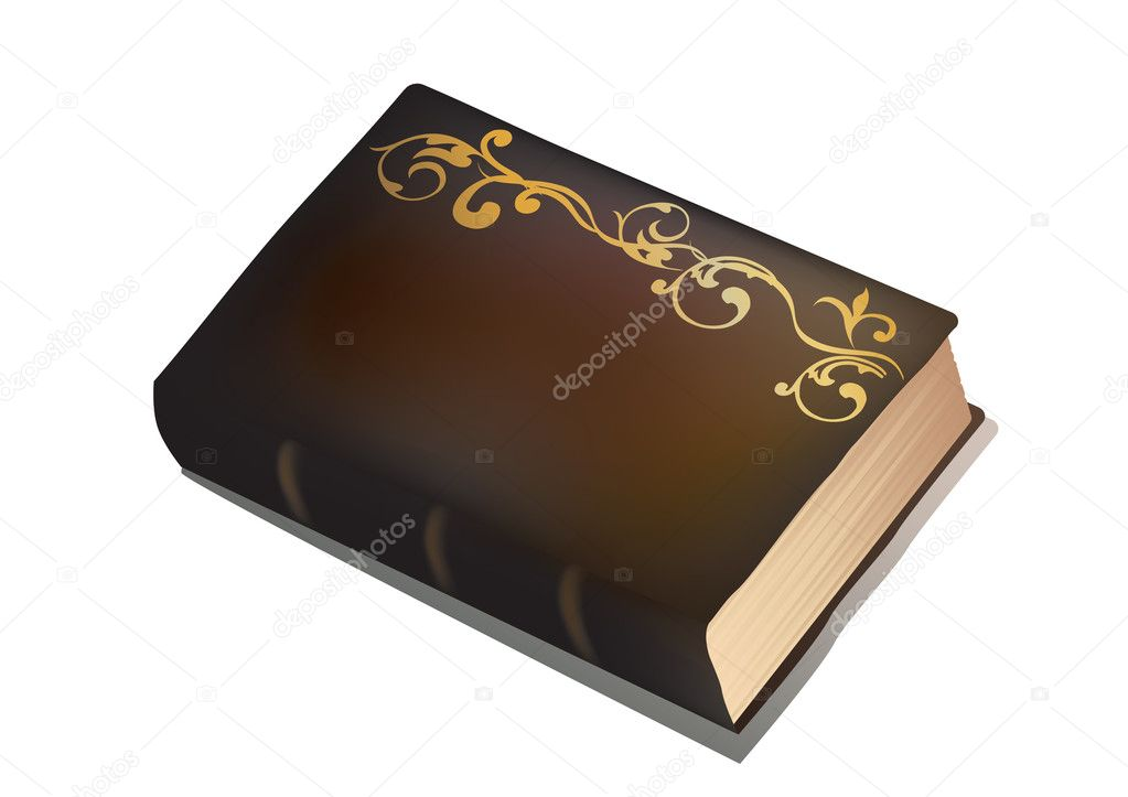 An isolated vector old book on a white background.  Stock Vector #2919969