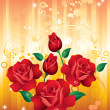 Stock Vector: Red roses.