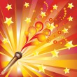 Abstract background with a microphone. — Stock Vector