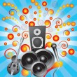 Abstract background with speakers, a gui — Stock Vector #3025733