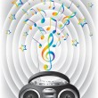 Royalty-Free Stock Vector Image: Audio mini-system, radio, player