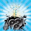 Stock Vector: Abstract background with speakers, gui