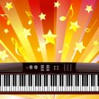 Stock Vector: Electronic piano.