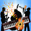 Royalty-Free Stock Vector Image: Musicians and musical instruments.