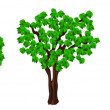 Green trees. - Stock Vector