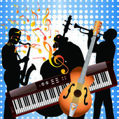 Musicians and musical instruments. — Stock Vector