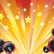 Abstract background with speakers. - Stockvectorbeeld