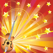 Abstract background with a guitar. — Stock Vector