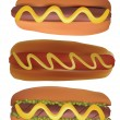 Stock Vector: Hotdogs.