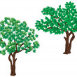 Trees. — Stock Vector