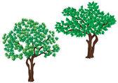 Träd. — Stockvektor