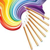 Lápices de dibujo. — Vector de stock