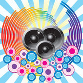 Abstract background with speakers. — Stock Vector