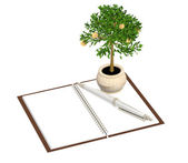 3d monetary tree — Stock Photo