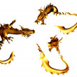 Golden dragons - Foto Stock