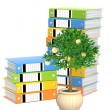 Stock Photo: Monetary tree and folders