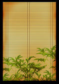 Ancient Japanese reed mat — Stock Photo
