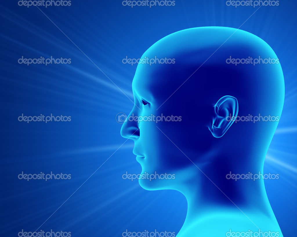 Transparent 3d head of the person - x-ray — Stock Photo #2883995