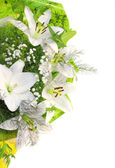 Bouquet with white lilies — Stock Photo