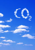 Symbol CO2 from clouds — Stock Photo