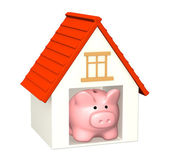 Bank account for buying a house — Stock Photo
