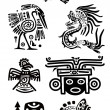 American Indian national patterns — Vector de stock