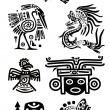 Royalty-Free Stock Vector Image: American Indian national patterns
