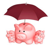 Insurance of bank contributions — Stock Photo