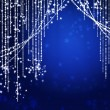 Stock Photo: Abstract curtains of holiday garland