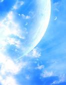 Sky in alien planet — Stock Photo