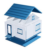 3d model of a house — Stock Photo