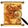 Stock Photo: Pirate map