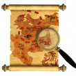 Royalty-Free Stock Photo: Pirate map