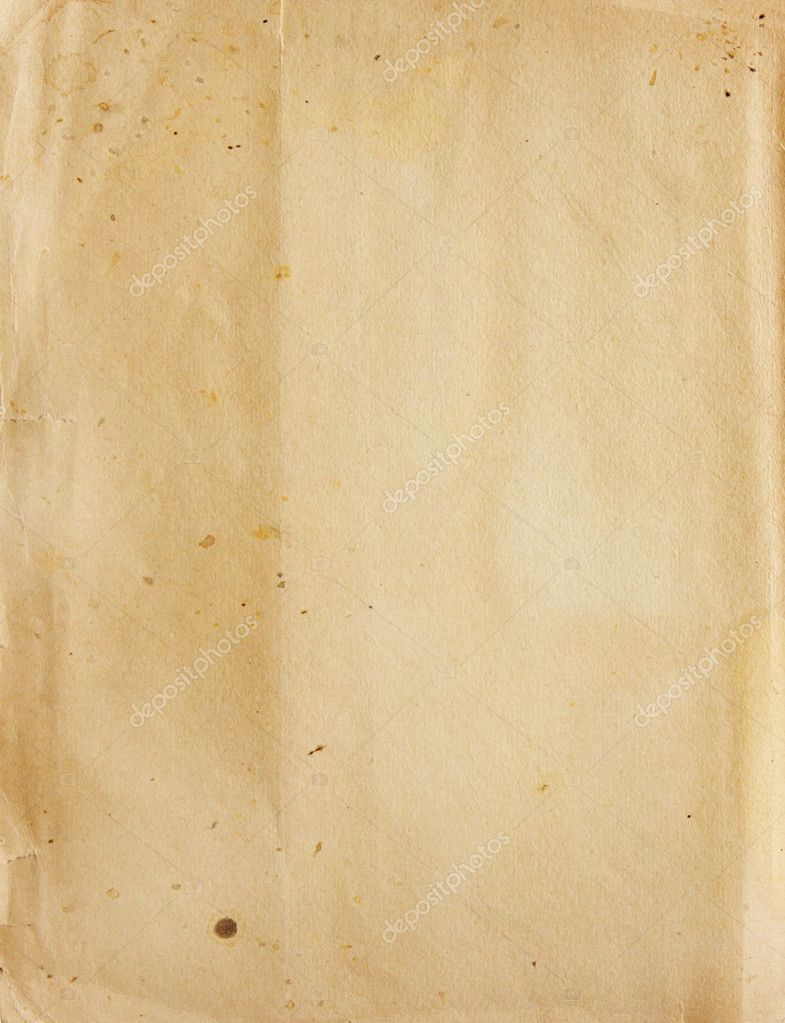 Texture - a sheet of the old, soiled paper  — Stock Photo #3828372