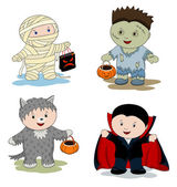 Children in masks — Stock Vector