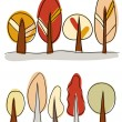 Vector autumn trees - Stock Vector