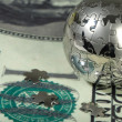 Dollar and globe. — Stock Photo