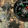 Compass on the old map — Stock Photo #2769849