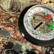 Compass on the old map — Stock Photo #2769870