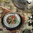 Compass on the old map — Stock Photo #2769915