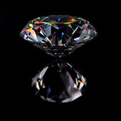 Diamond jewel with reflections — Stock Photo