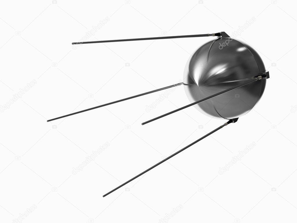 Satellite isolated on white background — Stock Photo #3227118